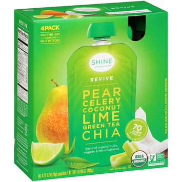 Shine Organics™ Revive Fruit & Vegetable Blend 4-4.22 oz. Pouches