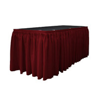 La Linen Table Skirt Color: Burgundy