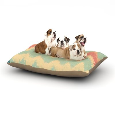 East Urban Home Nika Martinez 'Ikat Chevron II' Dog Pillow with Fleece Cozy Top Size: Small (40