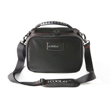Icoolerllc Freezable Lunch and Beverage Bag Cooler Color: Black