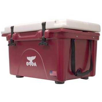 Outdoor Recreational Company Of America 26 Qt. Premium Rotomolded Cooler, Crimson/White