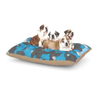 East Urban Home Skye Zambrana 'In Bloom' Floral Dog Pillow with Fleece Cozy Top Size: Large (50