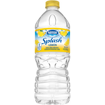 NESTLE SPLASH Water Beverages with Natural Fruit Flavors, Lemon 20-ounce plastic bottle