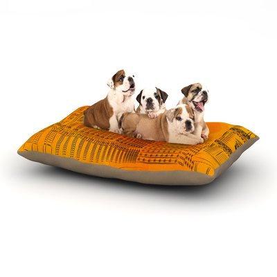 East Urban Home Fotios Pavlopoulos 'Parisian Sunsets' City Dog Pillow with Fleece Cozy Top Size: Large (50