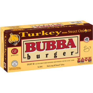 Bubba Burger® Turkey with Real Sweet Onions Burgers 8 ct Box