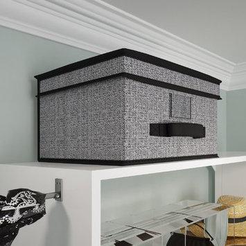 Wayfair Basics Storage Box Color: Beige, Size: 10