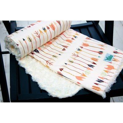 Littlemoosebyliza Fletching Chant Cuddle Minky Baby Blanket