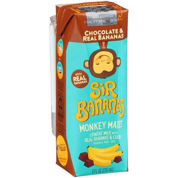Sir Bananas® Monkey Mates™ Chocolate & Real Bananas Lowfat Milk 8 fl. oz. Aseptic Pack