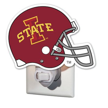 Team Sports America NCAA Glass Night Light NCAA Team: Iowa State University