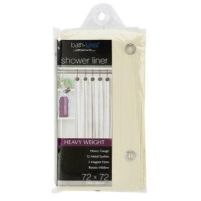 Hold N Storage Beige Shower Curtain Liner 5232-48