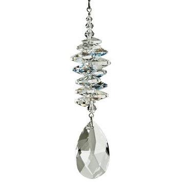 House Of Hampton Firmin Crystal Ice Cascade Almond Color: Ice