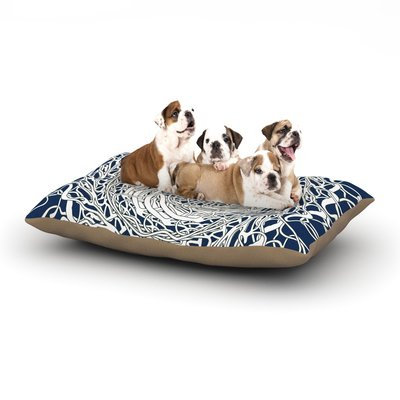 East Urban Home Patternmuse 'Mandala Spin' Dog Pillow with Fleece Cozy Top Size: Small (40