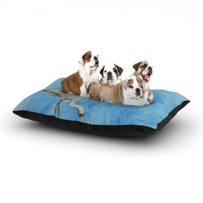 East Urban Home Kira Crees 'Crane' Dog Pillow with Fleece Cozy Top Size: Large (50