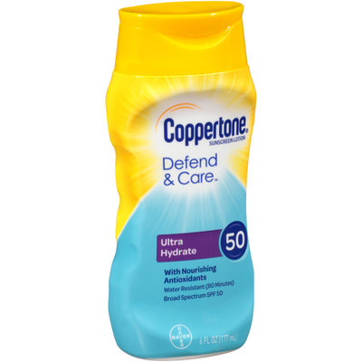 Coppertone® Defend & Care™ Ultra Hydrate Broad Spectrum SPF 50 Sunscreen Lotion 6 fl. oz. Squeeze Bottle