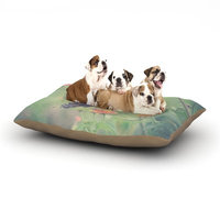 East Urban Home Robin Dickinson 'Captivating II' Flower Dog Pillow with Fleece Cozy Top Size: Large (50