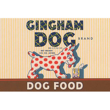 Buyenlarge 'Gingham Dog' Wall Art Size: 66