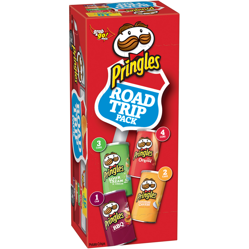 Pringles® Road Trip Variety Pack Potato Crisps