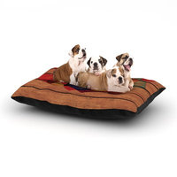 East Urban Home Louise Machado 'Wooden Heart' Dog Pillow with Fleece Cozy Top Size: Small (40