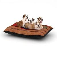 East Urban Home Louise Machado 'Wooden Heart' Dog Pillow with Fleece Cozy Top Size: Small (40