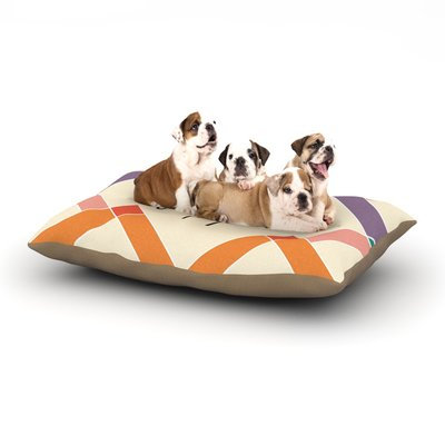 East Urban Home KESS Original 'Pepper' Colorful Geometry Dog Pillow with Fleece Cozy Top