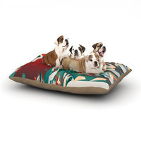East Urban Home Danny Ivan 'Soccer Headshot' Dog Pillow with Fleece Cozy Top Size: Large (50