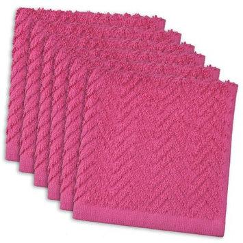 Ivy Bronx Zig Zag Cotton Dishcloth Color: Neon Pink