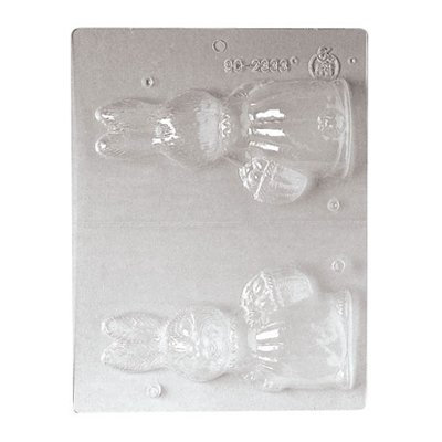 Paderno World Cuisine Single-Imprint Polypropylene Chocolate Mold - 5 7/8