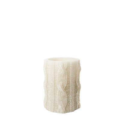 Loon Peak Cable Knit Sweater Unscented Flameless Candle