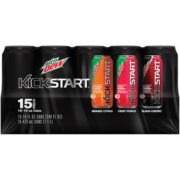 mountain dew® kickstart™ orange citrus/fruit punch/black cherry variety pack juice drinks 1