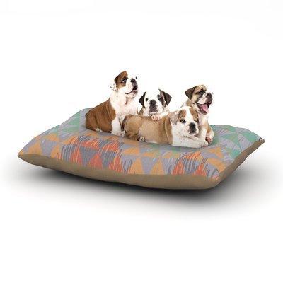 East Urban Home Nika Martinez 'Ikat Geometrie' Dog Pillow with Fleece Cozy Top Size: Large (50