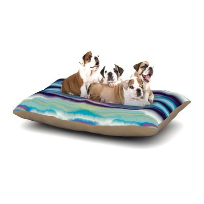 East Urban Home Nina May 'Artik Blue Stripe' Dog Pillow with Fleece Cozy Top Size: Large (50