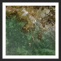 Marmont Hill Inc Marmont Hill - 'Three Kayaks' by Karolis Janulis Framed Painting Print