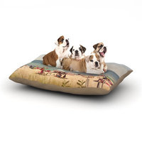East Urban Home Jillian Audrey 'Summertime' Dog Pillow with Fleece Cozy Top Size: Small (40