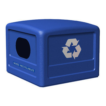 Commercial Zone Recycle 38 Dome Lid with Decal