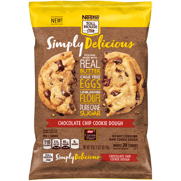 Nestle TOLL HOUSE Simply Delicious Chocolate Chip Cookie Dough 18 oz. Bar