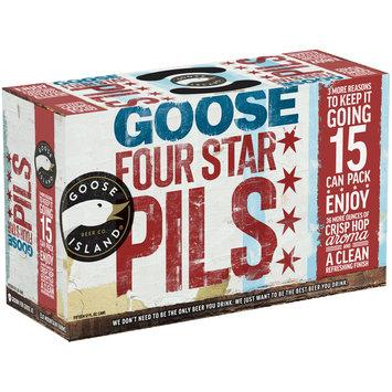 Goose Island Beer Co.® Goose Four Star Pils Beer 15-12 fl. oz. Cans