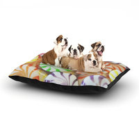 East Urban Home Libertad Leal 'I Want Candy' Dog Pillow with Fleece Cozy Top Size: Small (40