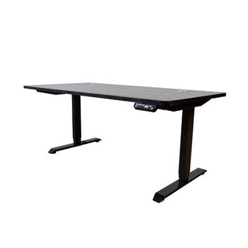 Ergomax Office Ergomax Electric Height Adjustable Sit-Stand Desk Dual Motor (Black)