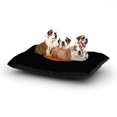 East Urban Home Frederic Levy-Hadida 'Yin Yang Diablo' Dog Pillow with Fleece Cozy Top Size: Large (50