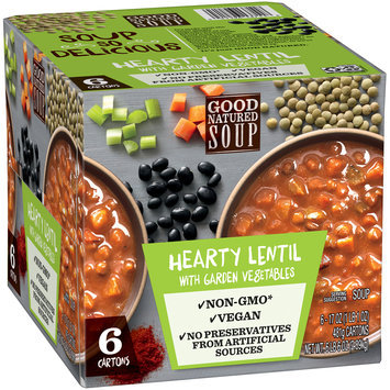 Good Natured Soup Hearty Lentil with Garden Vegetables Soup 6-17 oz. Cartons