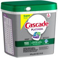 Cascade® Platinum™ Dawn® Fresh Scent Action Pacs™ Dishwasher Detergent 62 ct Plastic Container
