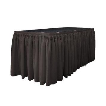 La Linen Table Skirt Color: Charcoal