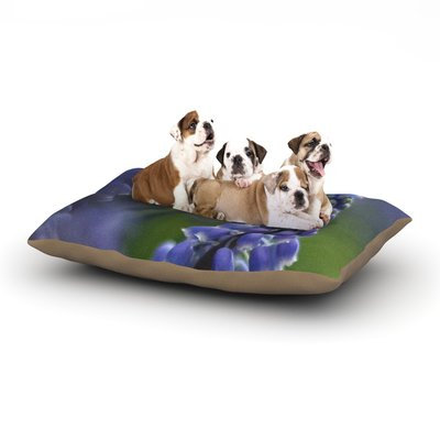 East Urban Home Angie Turner 'Grape Hyacinth' Dog Pillow with Fleece Cozy Top Size: Large (50