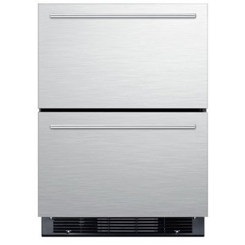 Summit Appliance Two-Drawer Refrigerator-Freezer For Built-In Or Freestanding Use