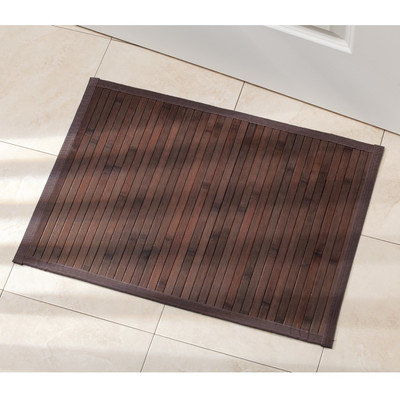 InterDesign Bamboo Floor Mat, 21-Inch by 60-Inch, Mocha