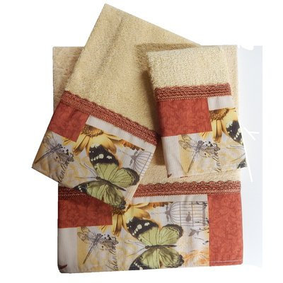 Daniel's Bath Decorative 3 Piece Towel Set Finish: Rust