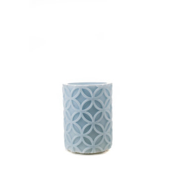 Theamazingflamelesscandle Carved Series Flameless Pillar Candle, 4