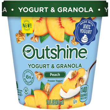 Outshine Yogurt & Granola Peach Frozen Yogurt 14 fl. oz. Carton