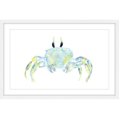 Marmont Hill Inc Marmont Hill - 'Ghost Crab' by Thimble Sparrow Framed Painting Print