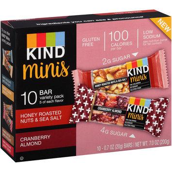 Kind® Minis Honey Roasted Nuts & Sea Salt/Cranberry Almond Granola Bar Variety Pack 10-.07 oz. Bars